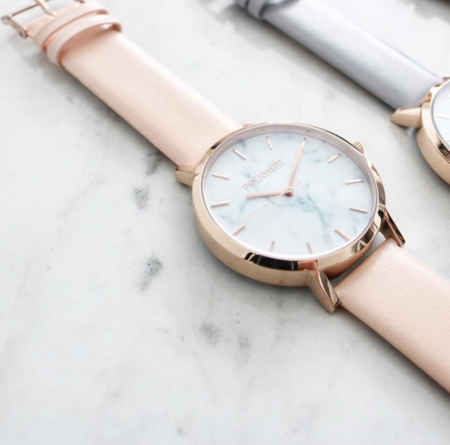 Piperwest Marble Minimalist in Rose Gold + Blush