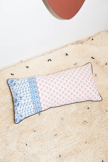 Heidi Merrick Red & Blue Rectangular Pillow