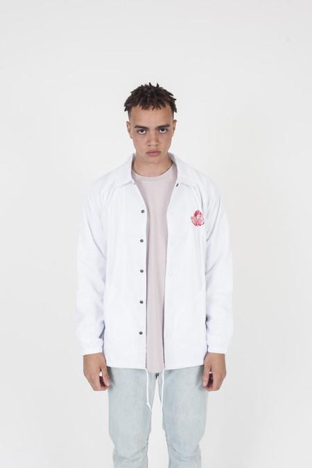Brain Dead New Order Coaches Jacket White