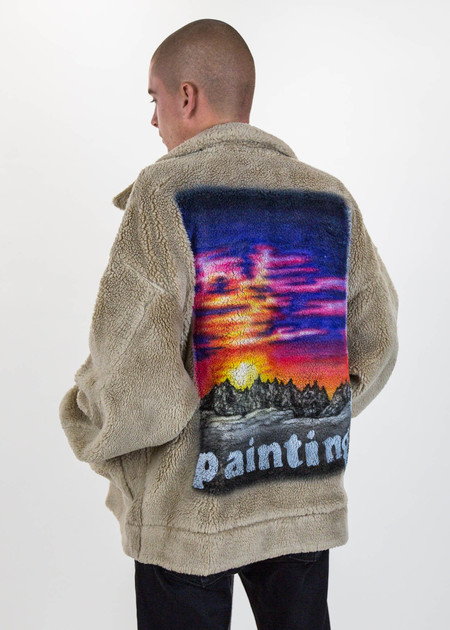 Doublet Hand Painted Fur Jacket