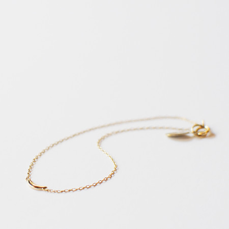 GRA CRESCENT MOON 14K SOLID GOLD BRACELET