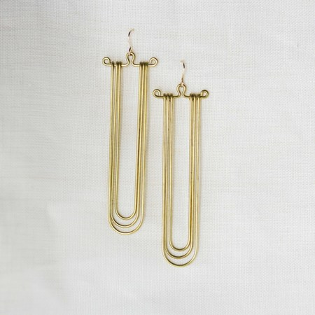 Hellbent Nested Curve Earrings
