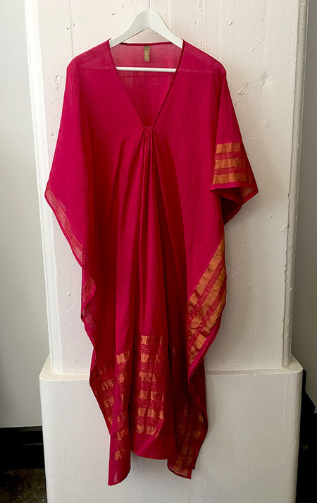 Two cherry red caftan