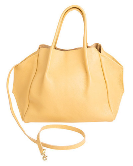 Oliveve zoe tote in chamois pebble cow leather