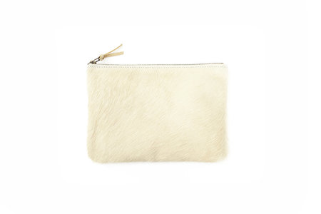 Primecut CARAMEL SPECKLED COWHIDE CLUTCH