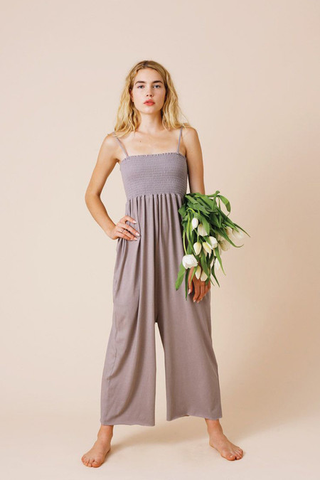 calder blake lili jumpsuit in anthracite