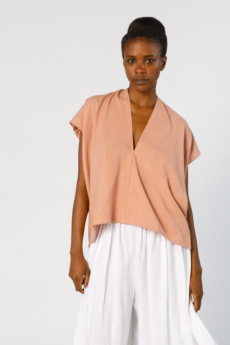 Miranda Bennett In-Stock: Ed. VIII Everyday Top - Silk Noil in Nico