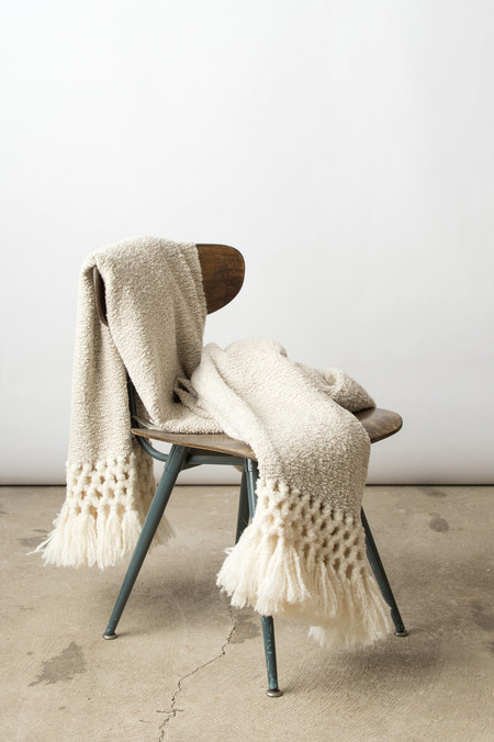 Sefte Waylu Throw In White/Taupe