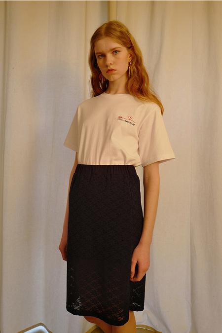 Among Black Laced Skirt