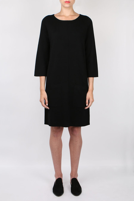 Allude Long Sleeve Pocket Dress