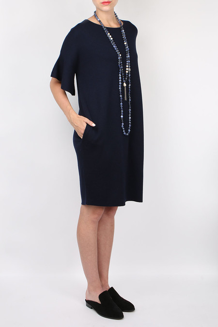 Allude Ruffle Sleeve Dress