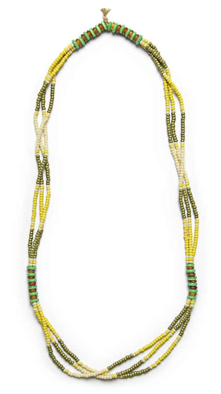 FORTUNE GOODS MONTAGNARD BEAD NECKLACE IN MAIZE / OLIVE / JADE