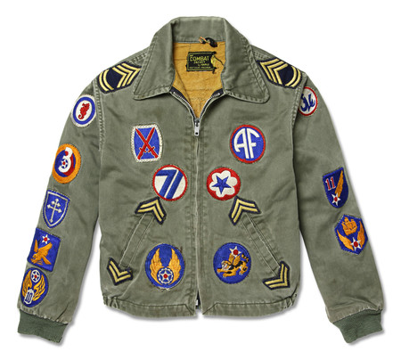 KIDS FORTUNE GOODS VINTAGE COMBAT JACKET WITH PATCHES