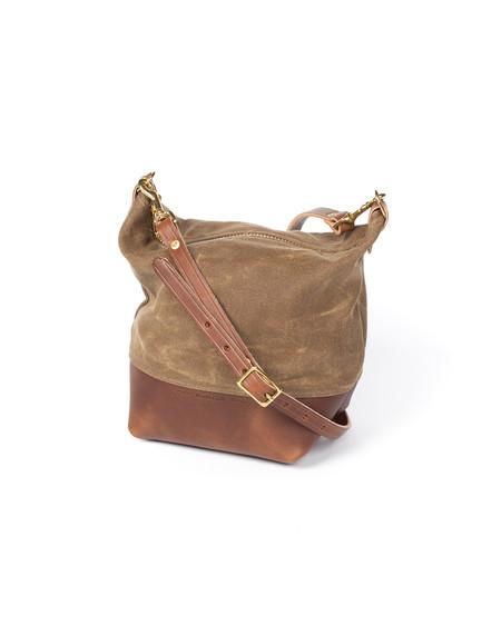 Wood&Faulk Cascade Range Tan Waxed Canvas Field Bag