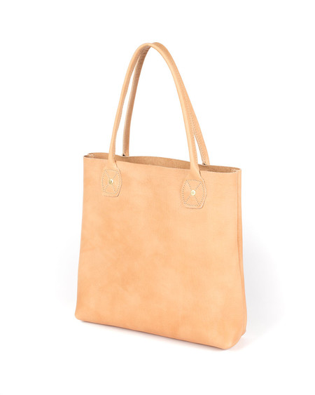 Wood&Faulk Natural Vegetable Tanned Special Edition Leather Slouch Tote