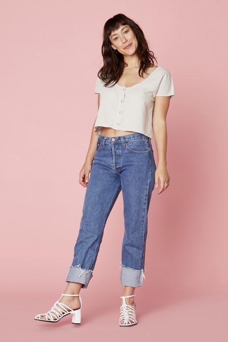 Lacausa Clothing Reversible Linen Top