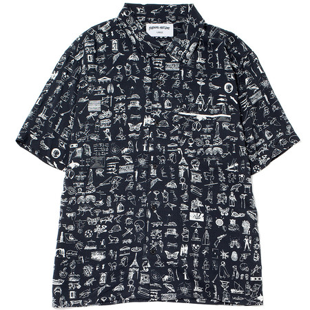 FUCKING AWESOME DICTIONARY CABANA BUTTON UP - BLACK