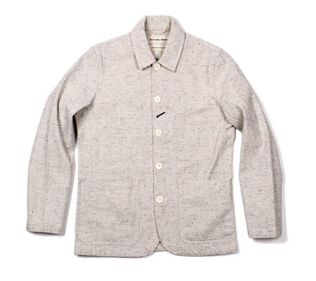 Universal Works Bakers Jacket | Ecru Kuroki Twill