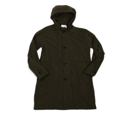 Still By Hand Hooded Coat | Olive