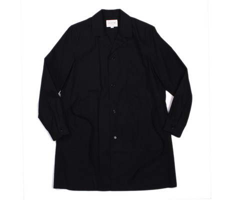 Still By Hand Silicone Coated Linen Coat | Navy