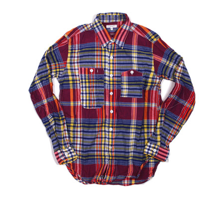 Engineered Garments Work Shirt | Red Blue Yellow Big Plaid