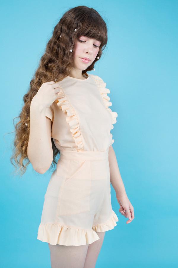 Samantha Pleet Fin Shorts - Peach