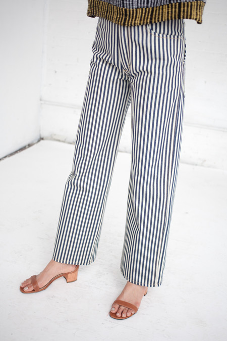 ECKHAUS LATTA Wide Leg EL Jean in Stripe