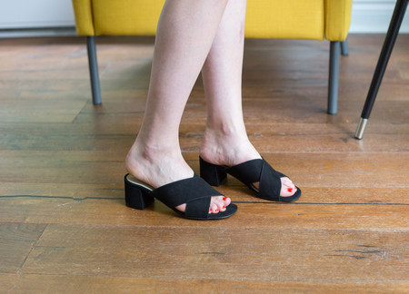 L'Intervalle Illy Black Suede Slides