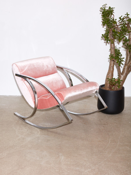 Coming Soon Rocking Chair style of Milo Baughman
