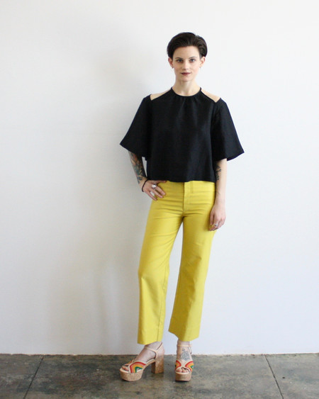 Dusen Dusen high waist pants - yellow
