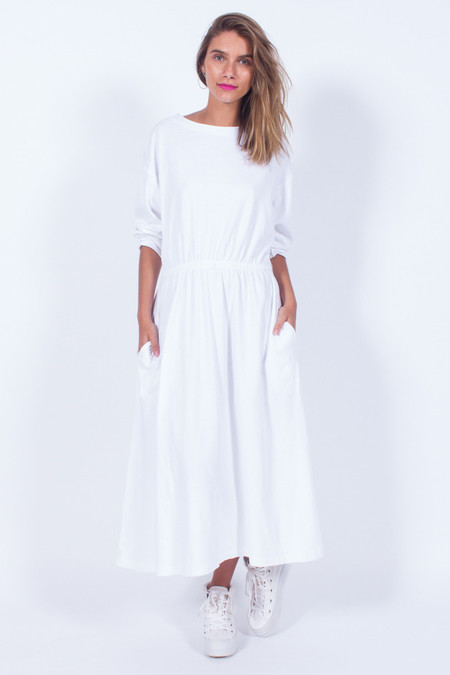 Yo Vintage! WHITE COTTON TEE DRESS (MED)