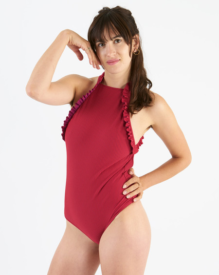 made by dawn venus fuchsia one piece