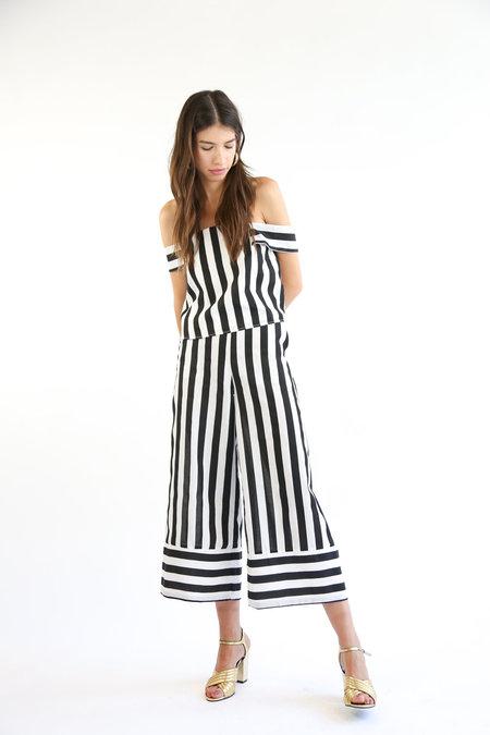 Collection Devon Pant - Black/White Stripe