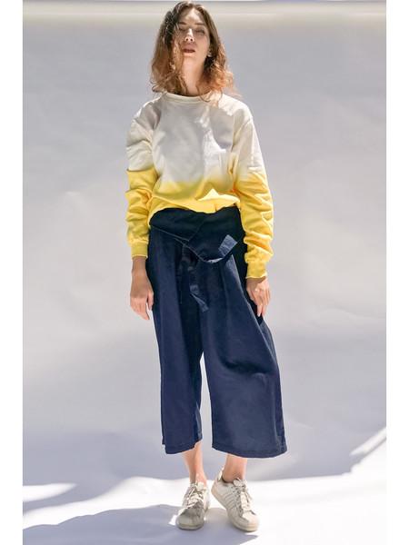 Audrey Louise Reynolds Organic Cotton Sweatshirt - Pale Pink to Yellow