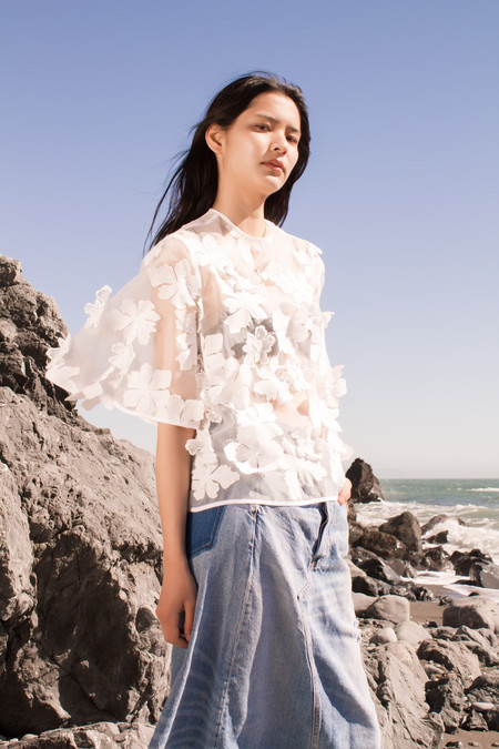 NIKA TANG Camera Embroidery Blouse