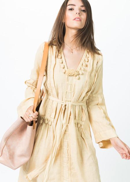 Luna Bi Embroidered Tassel Dress