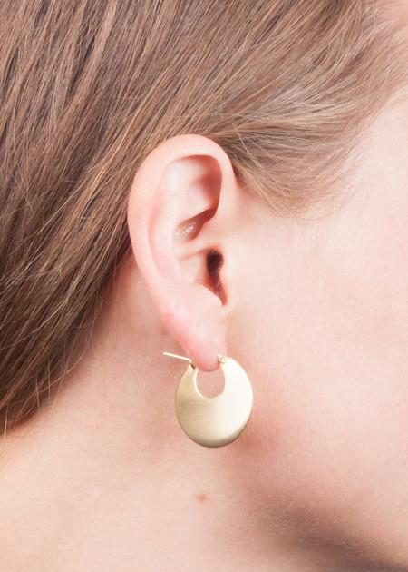 "Lila Rice Disc Hoops 1"" earrings"