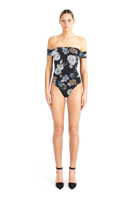 Beth Richards Dolly One Piece - Black Bouquet