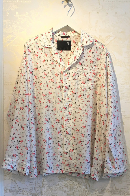 R13 Mini Rose Print Silk PJ Top