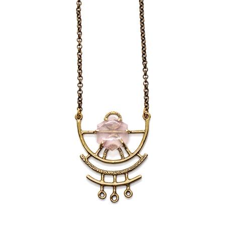 Laurel Hill Jewelry Dreamweaver Necklace - Rose Quartz