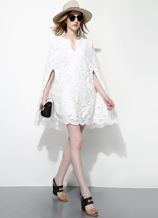 Full Lace Cloak Dress
