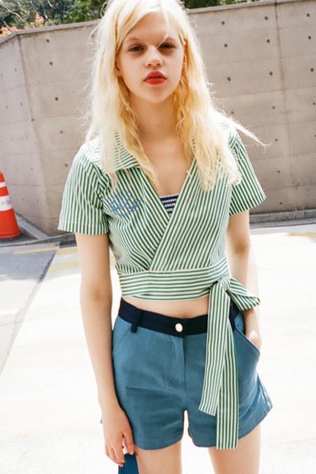 OUR Striped Wrap Shirt