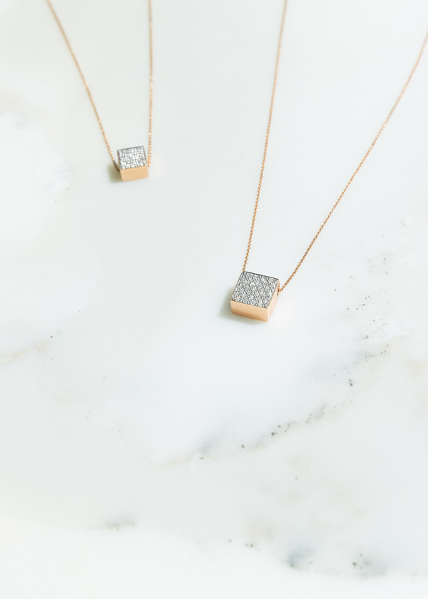 Ginette NY Diamond Ever Square Necklace
