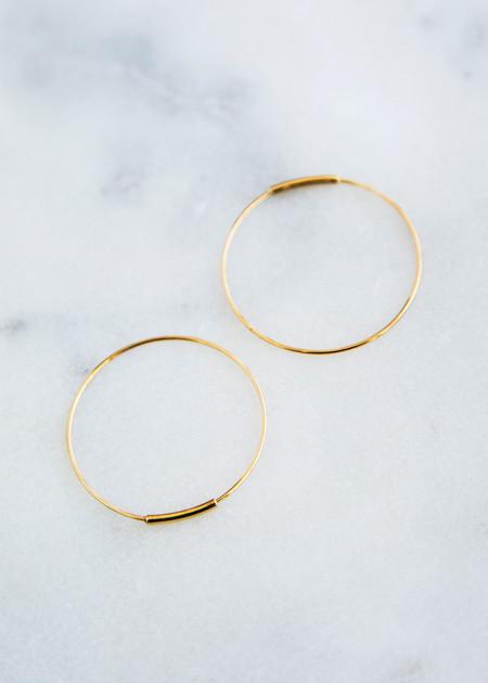 Kathleen Whitaker Hoop Earring 14K Gold