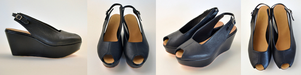 "The Palatines ""levo"" wedge sandal |  black"