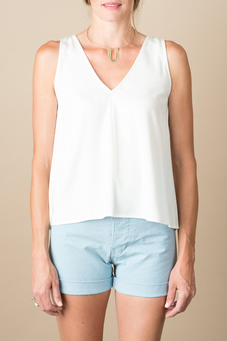 Jesse Kamm Palma Top In Ivory