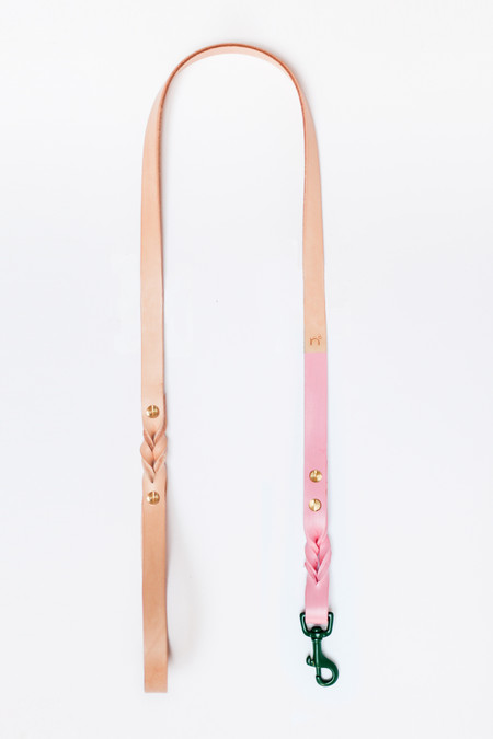 Edition 12 Pink & Green Leather Leash