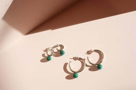 Quarry Asha Hoops with Green Malachite