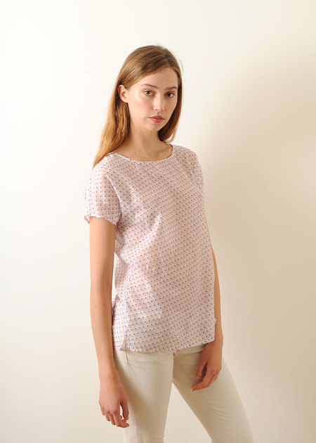 Conifer Woven Top White Print