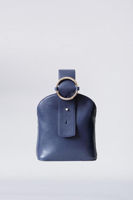 Parisa Wang Leather Bracelet Bag - Navy